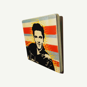 Elvis Presley - Face - Recycle Art - artisanal wood print - https://artesanalwoodprint.com