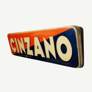 Cinzano - Vintage ad - Recycle Art - artisanal wood print - https://artesanalwoodprint.com
