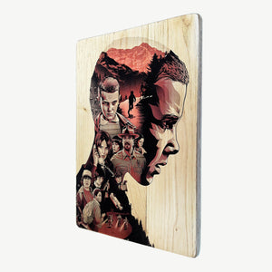 Stranger Things - Eleven - Recycling wood Art - artisanal print - www.artesanalwoodprint.com