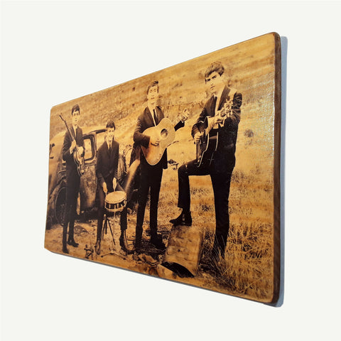 The Beatles - Upcycle Art wood print handmade - https://artesanalwoodprint.com