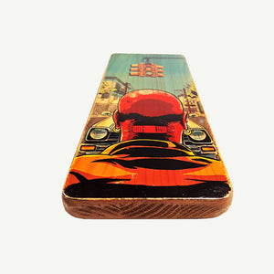 Pulp Fiction - Traffic Light  - reclaimed wood art - artisanal handmade print - www.artesanalwoodprint.com