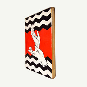 Twin Peaks - Hands - Artisanal Pop Art woodprint - www.artesanalwoodprint.com