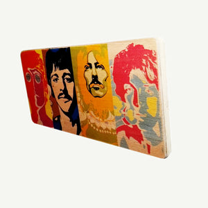 Faces - Artisanal Pop Art woodprint - www.artesanalwoodprint.com