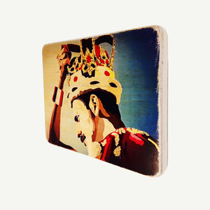 Freddie Mercury - Crown - Recycle Art - artisanal wood print - https://artesanalwoodprint.com