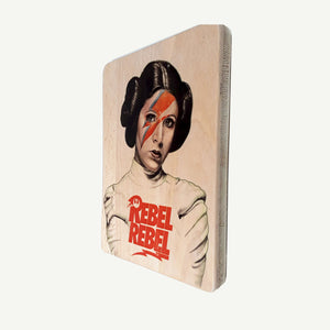 Princess Leía - Star Wars - Rebel  - Recycling wood Art - artisanal print - www.artesanalwoodprint.com