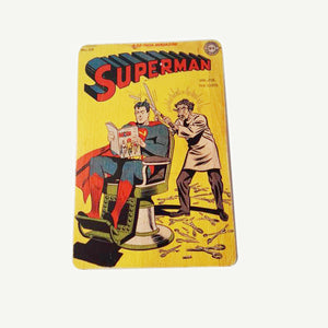 Superman Vintage - Artisanal Pop Art woodprint - www.artesanalwoodprint.com