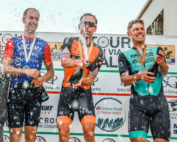 Mark on the podium at via italia
