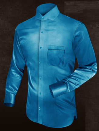 Stunning Blue Silk Shirt