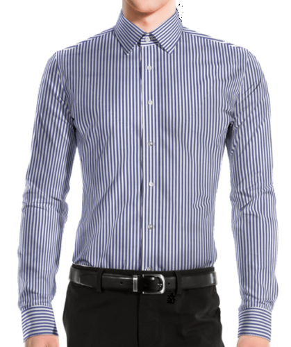 Classic Business Blue Stripe Shirt