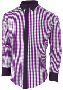 Checkered Purple Stylish Shirt