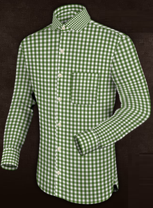 Green Check Smart Dress Shirt