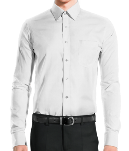 Classic All White Business Dress Shirt
