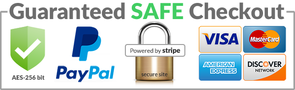 secured and safe checkout, easy return, accept paypal, visa, mastercard, american express, discover networks
