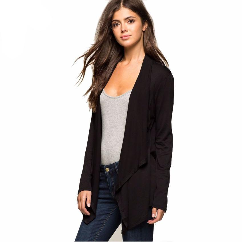Femme Irregular Cardigan Long Sleeve Jacket - GHOST Store