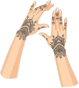 """ Ariana "" Henna Mhendi Temporary Tattoo"