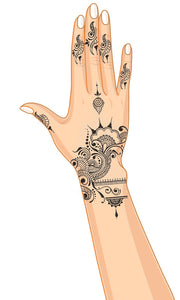 Diana Temporary Henna Hand Tattoo
