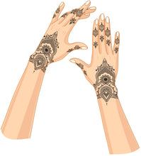 """ Goddess "" Temporary Henna HandTattoo"