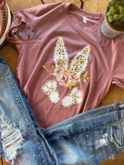 Floral Leopard Bunny Body Tee