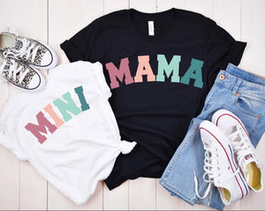 Colorful Mama and Mini Tee