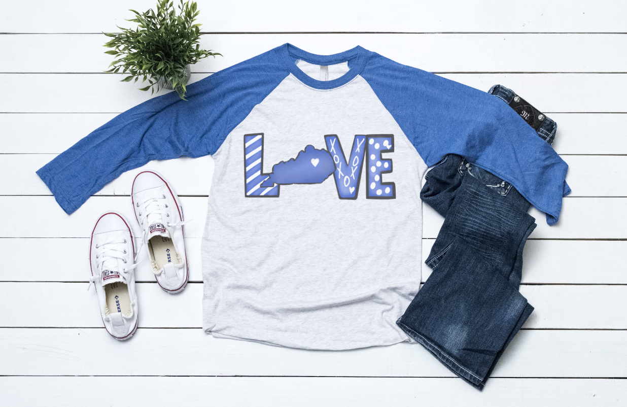 Love Kentucky Raglan