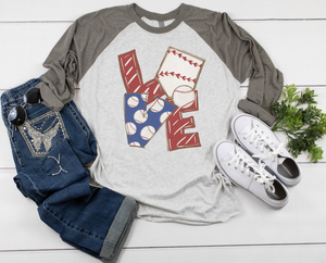 LOVE Baseball Raglan