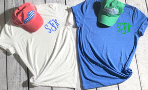 Monogram Tee with State Hat Combo