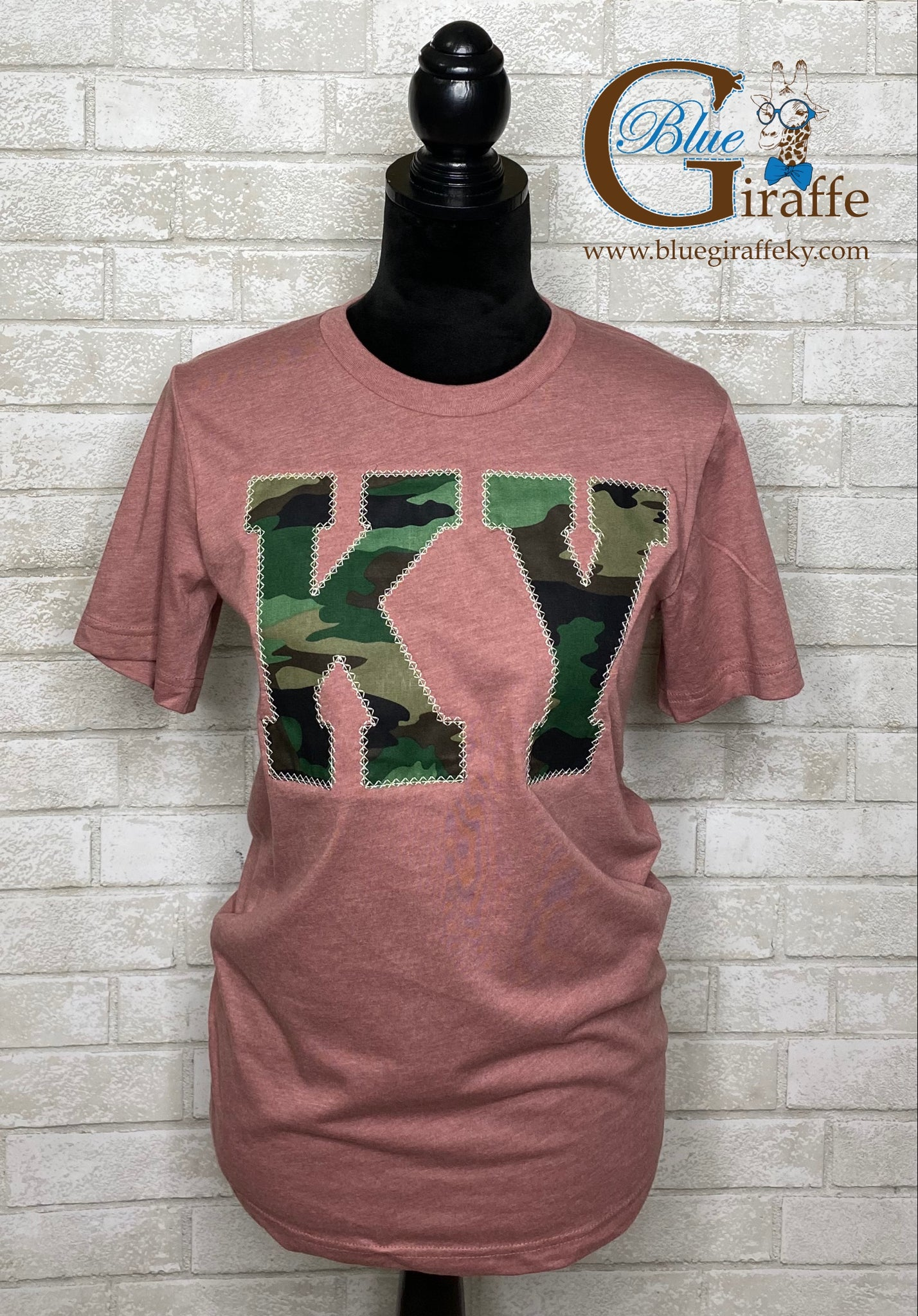 Camo KY on Mauve Tee
