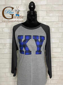 Buffalo Plaid KY Raglan