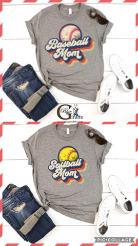 Retro Baseball/Softball Mom Tee