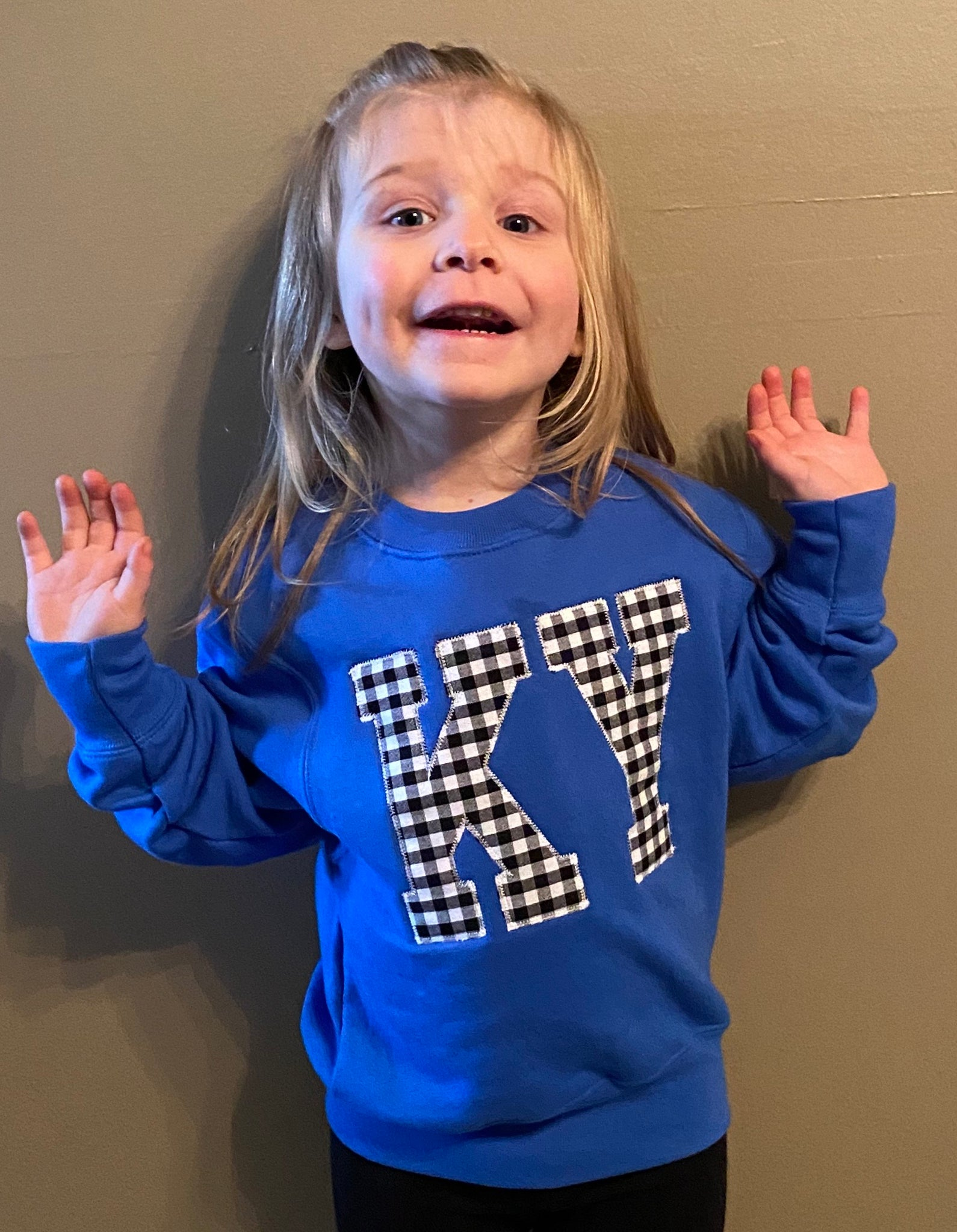 Youth Gingham KY Sweatshirt
