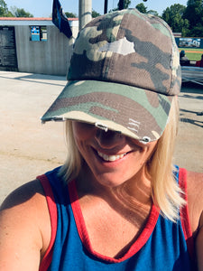 Camo Hat with small state
