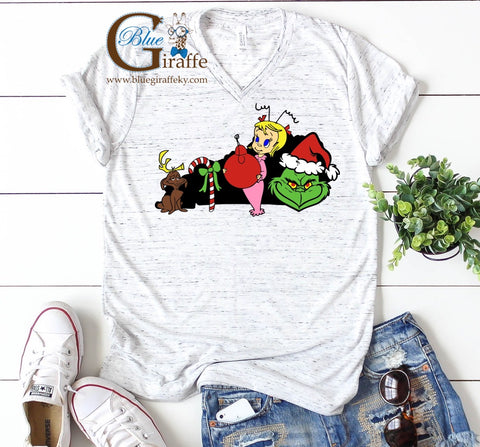 Grinch State Vneck Tee