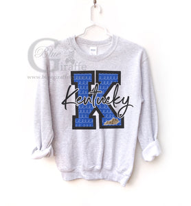 K with Leopard State Kentucky Sweatshirt