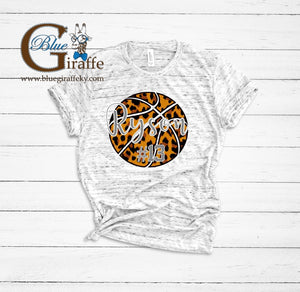 Leopard Personalized Basketball Tee