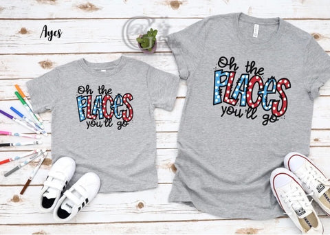Oh the Places You'll Go Tees