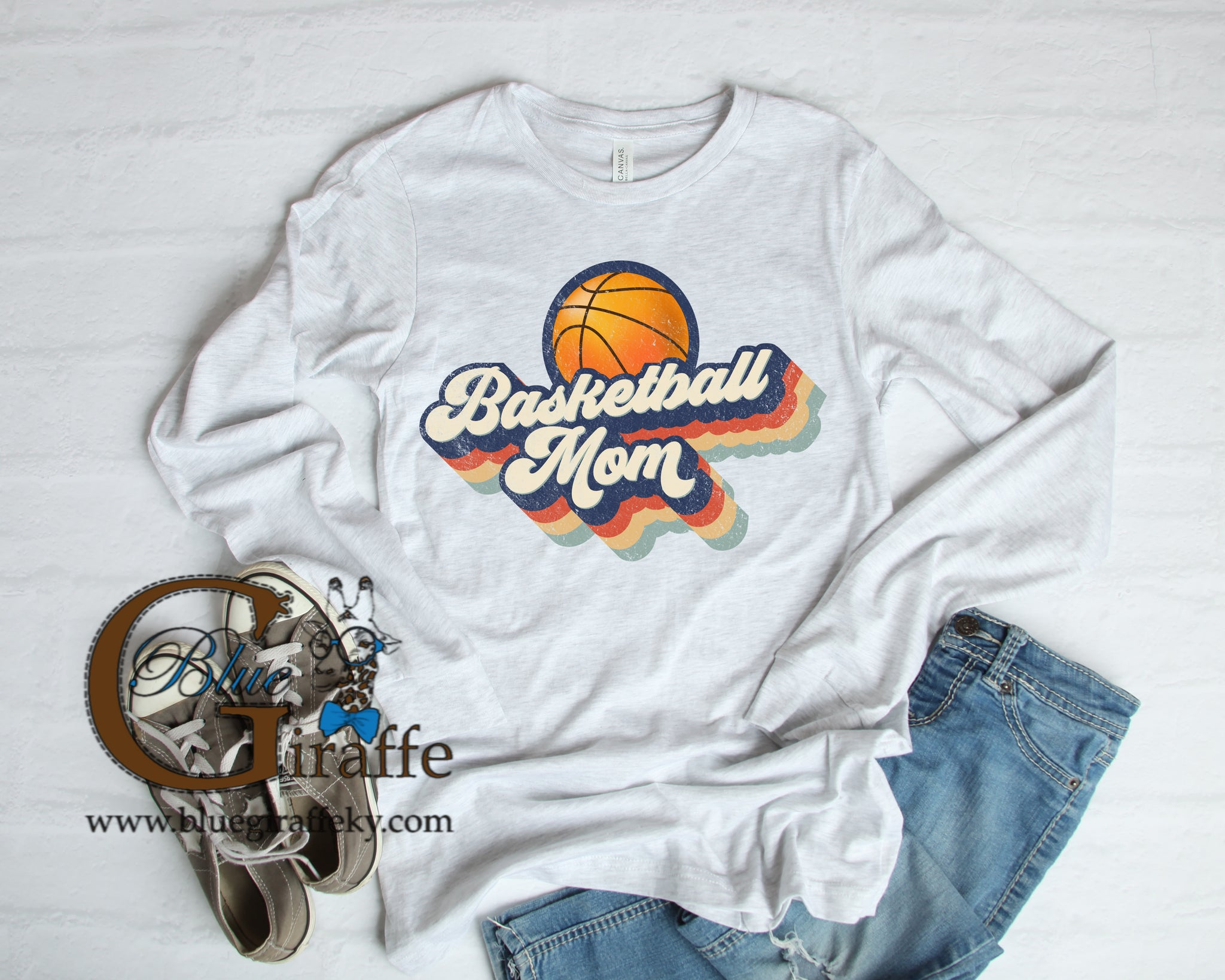 Retro Basketball Mom Tee