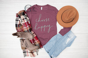 Choose Happy Long Sleeve Tee