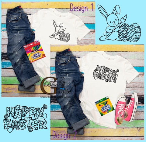 Youth Easter Coloring Tee