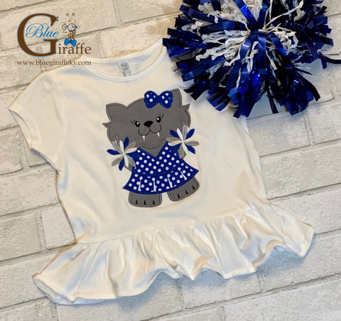 Wildcats Cheerleader Ruffle Tee