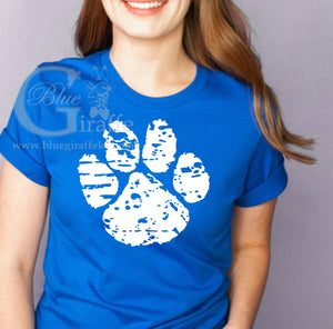 Distressed Paw Print Tee