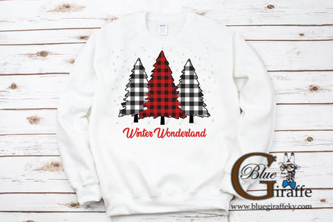 Gingham Christmas Tree Sweatshirt