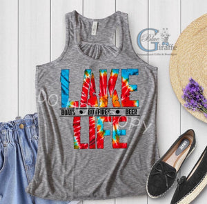 TIE DYE LAKE LIFE TEE OR TANK