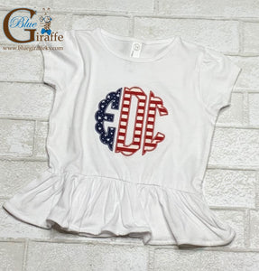 Scallop Flag Monogram Youth/Toddler Tee