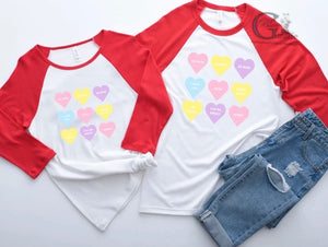 CONVERSATION HEART FAMILY TEE