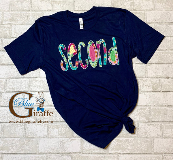 Custom Grade Level Applique Tee
