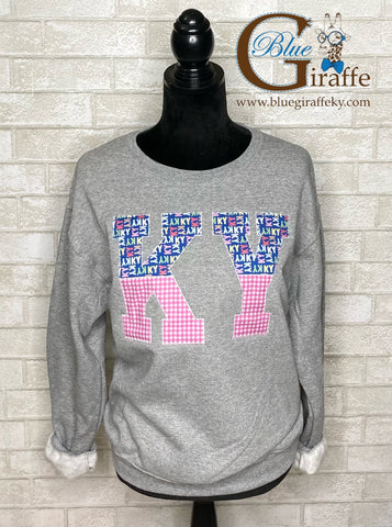 Split KY Applique Sweatshirt