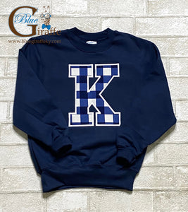 YOUTH Navy Plaid K Sweatshirt