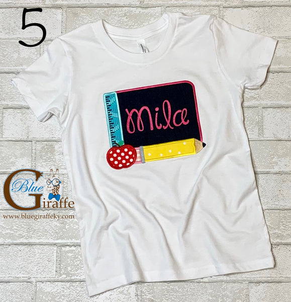 School Applique Shirts