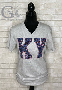 Blue Leopard KY Applique Tee