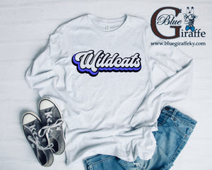 Retro Wildcats Long Sleeve Tee